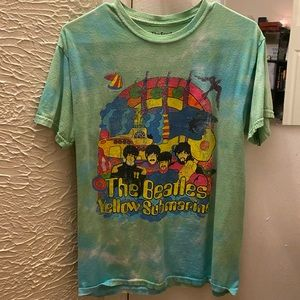 Tie dye Beatles graphic tee